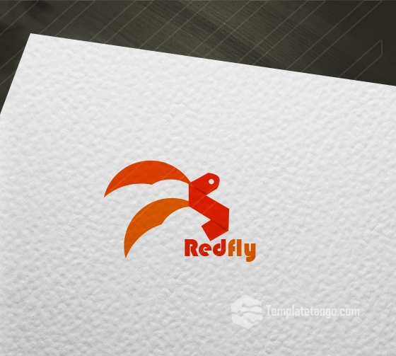 Red Fly Logo for Sale