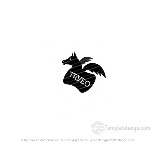 Black Travel Horse Logo