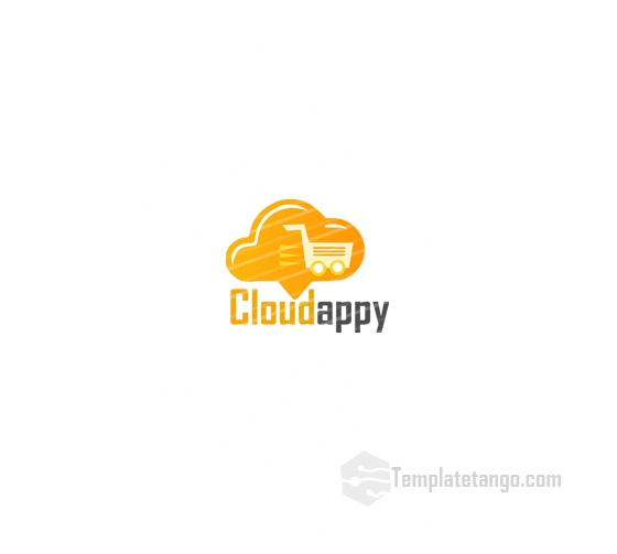 Shopping Cart Cloud Logo
