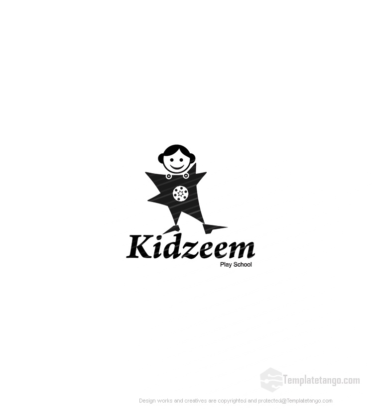 Kid Girl School Stock Logo