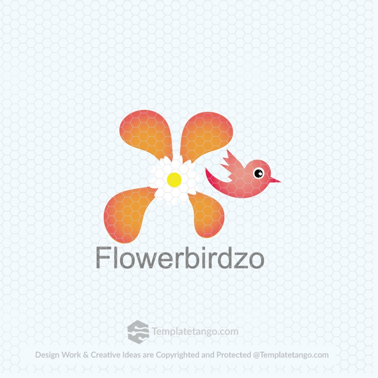bird flower logo