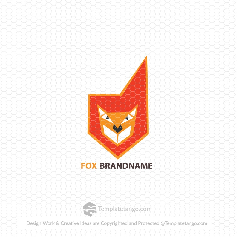 fox dog ready made logo
