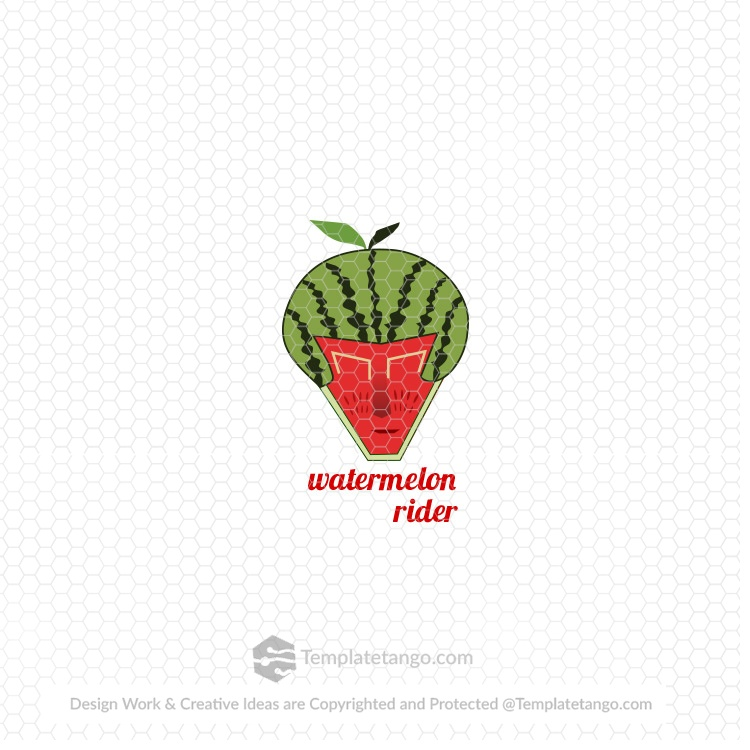 Ready Made Logo Watermelon Rider