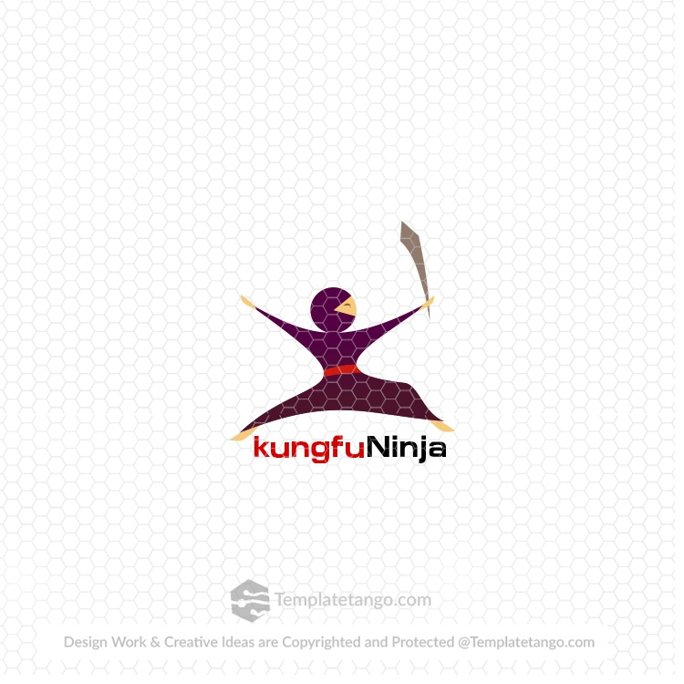 Ready Made Logo kungfu Ninja
