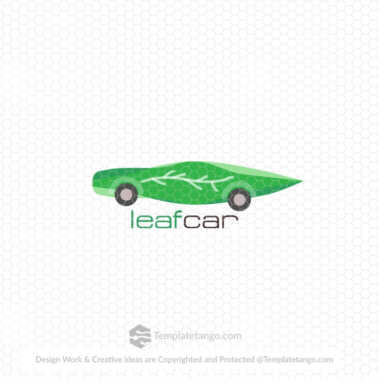 Stock Logo Leaf Car