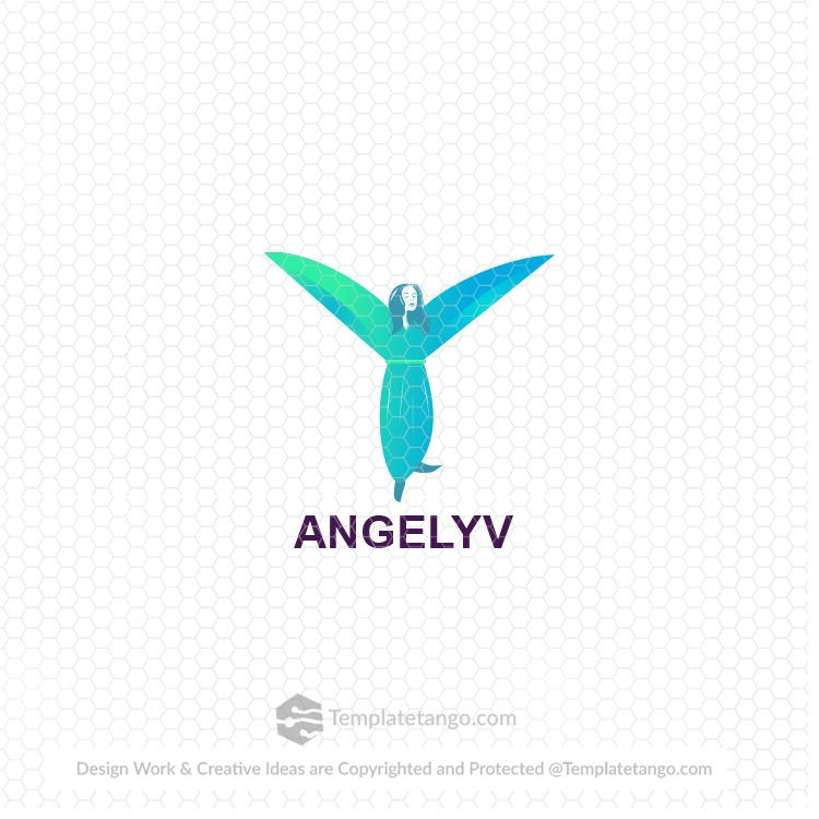 Angel Beauty Lady Logo