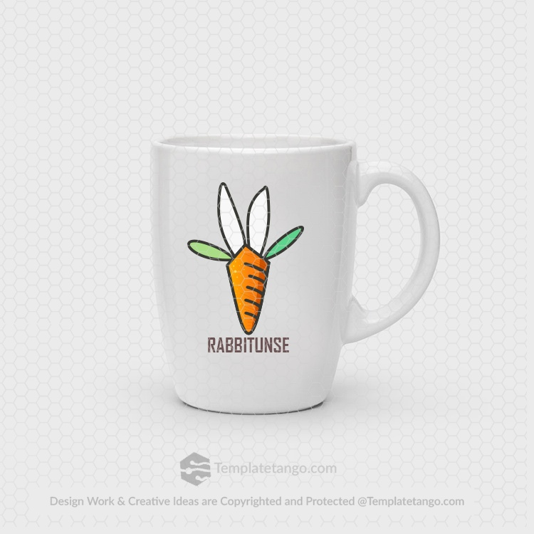 Rabbit-Carrot-Logo-Design