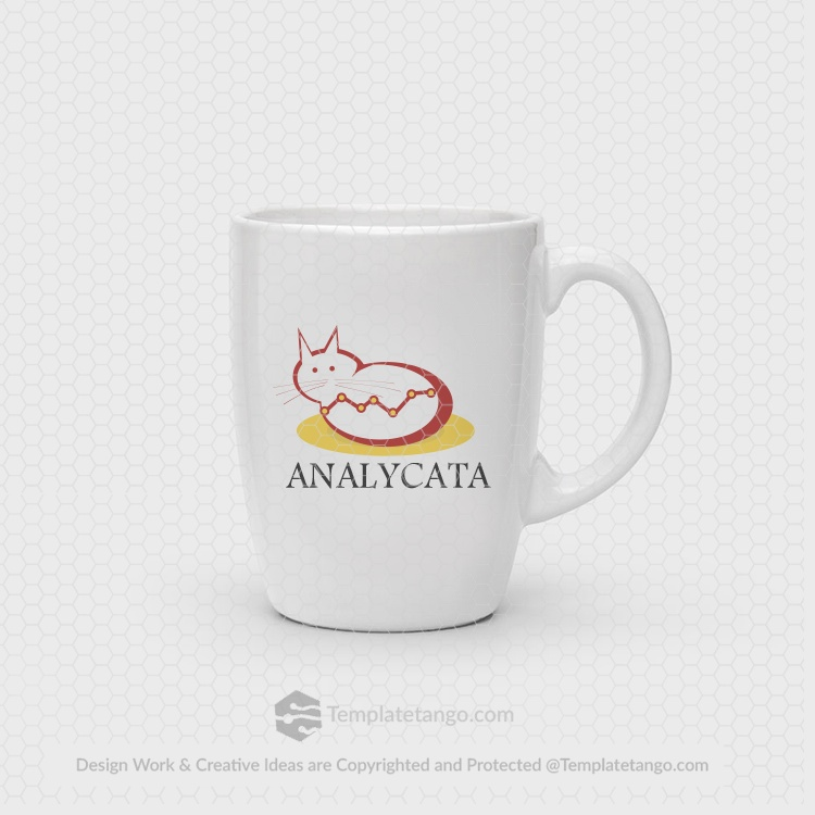 analytics-cat-animal-logo-design