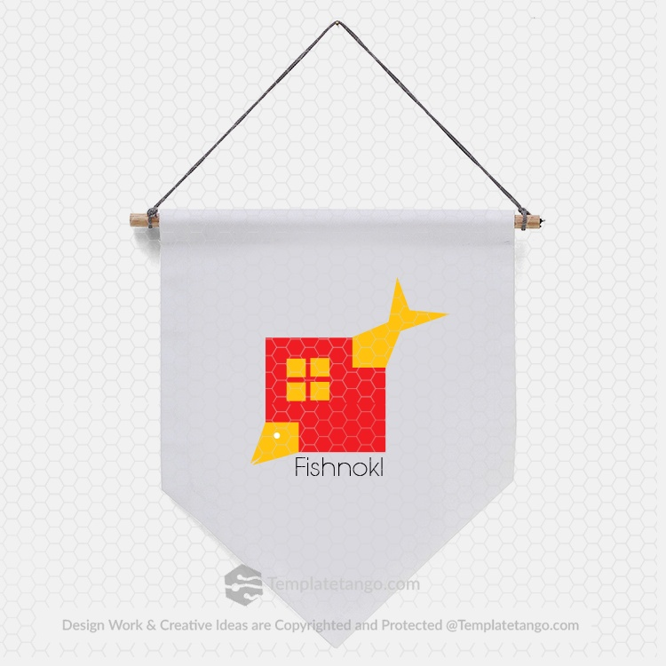 fish-window-house-yellow-logo-design-sale