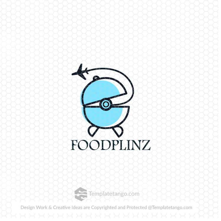 food-travel-airplane-logo-design