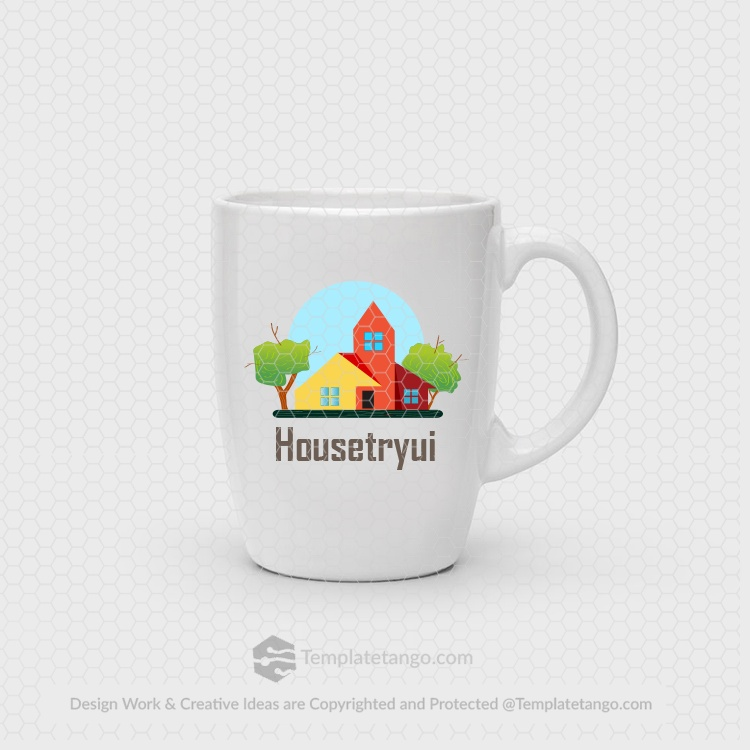 home-house-tree-real-estate-logo-design