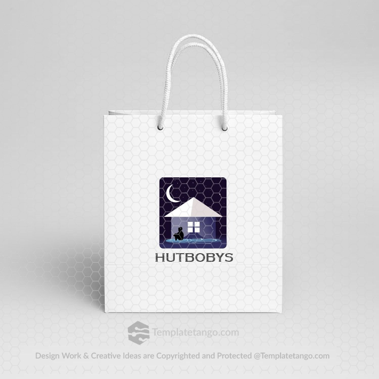 moon-kid-house-hut-logo-design