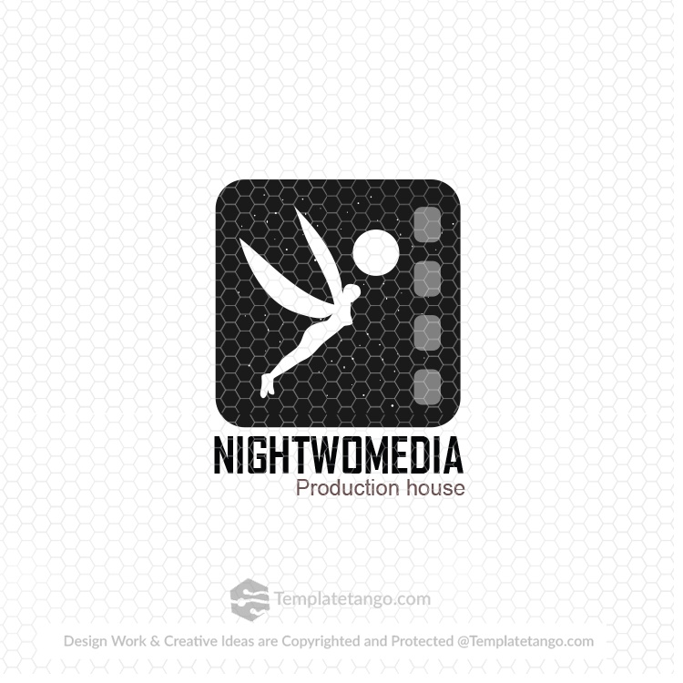 night-flying-lady-stars-moon-logo-design